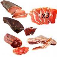ENVÍO GRATIS, Jamón Fileteado, Lomo, Cabezada, Bacon y Cecina.L6