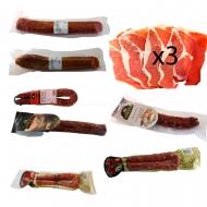 3 Fileteado Jamón, 2 Salchichón, 3 Chorizo, 2 Longaniza. L7-Rullo-www.jamoneselrullo.com