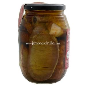 Conserva de cerdo Mezcla (Lomo, Costilla y Longaniza) en aceite de Oliva-Rullo-www.jamoneselrullo.com