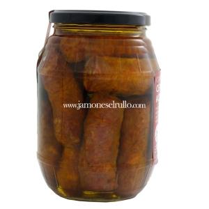 Conserva de cerdo Longaniza en Aceite de Oliva-Rullo-www.jamoneselrullo.com